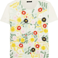 Raoul Embroidered knitted cotton top – 50% at THE OUTNET.COM