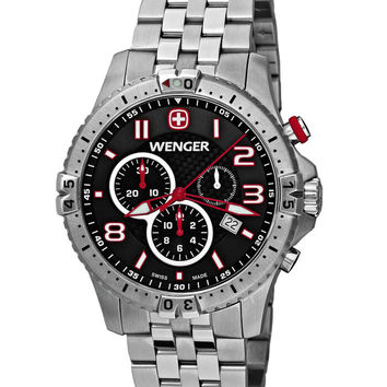 Wenger 77056 Men's Swiss Stainless Steel Chronograph Watch