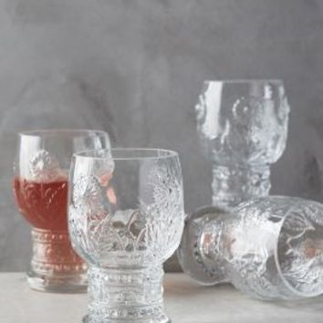 Helianthus Goblets by Anthropologie Clear Set Of 4 Glasses