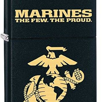 U.S. Marine Corps. Zippo Outdoor Indoor Windproof Lighter Free Custom Personalized Engraved Message Permanent Lifetime Engraving on Backside (Style3)