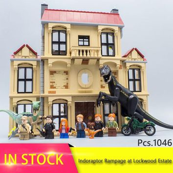 legoing Jurassic World Indoraptor Rampage at Lockwood Estate Building Block Brick Birthday Toy For Children compatible 75930