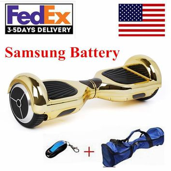 2017 new chrome hoverboard electric scooter samsung battery wheel self balancing scooter hover board electric skateboard