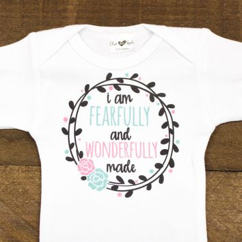 I am Fearfully and Wonderfully Made White Bodysuit
