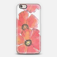Poppy iPhone 6 case by giddy paperie | Casetify