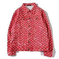 Louis Vuitton X Supreme Fashion Casual Cardigan Jacket Coat-2