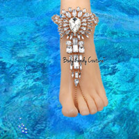 Coco Crystal BareFoot Sandals