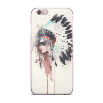 "Rebecca Bender ""Warrior Bride"" Beige Multicolor iPhone Case"