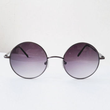 c852a873cd5 1960 s VTG Hipster street style violet Round Lens frame SunGlass