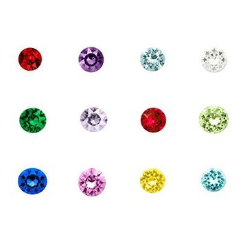 QampLocket 12 Colors HeartRoundStar Floating Charms For Living Memory Locket Necklace
