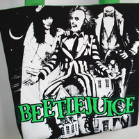 Beetlejuice Tote Bag - Comedy Horror Movie, Ghosts, Bio-Exorcist.