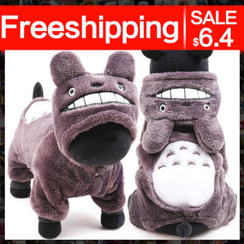 Petcircle Fashion Totoro Dog Hoodies 1 Color Size XXS-L Small and Large pet Dog Clothes dog coats for chihuahua Free shipping