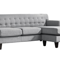 Airling Reversible Sectional Sofa Dark Grey by Moes Home Collection