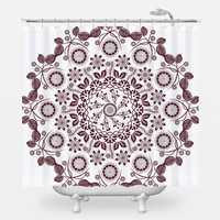 Boho Hippie Mandala Shower Curtain
