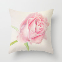 Simple Rose Throw Pillow by Susaleena