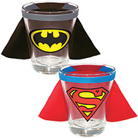DC Comics Superman And Batman Caped Shotglasses