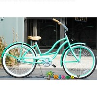 "JBikes Chloe, Mint Green - Women's 26"" 1-speed Beach Cruiser Bicycle (Better than Firmstrong Micargi)"