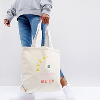 Ban.Do Everything Is Gonna Be Ok Tote Bag at asos.com