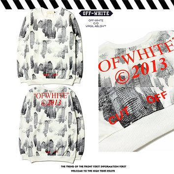 2017 OFF WHITE Render Letters Classic Hoodie Sweater M-XXL