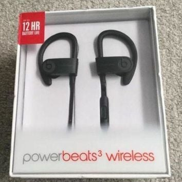 ONETOW Beats By Dr. Dre Powerbeats 3 Black Wireless In Ear Earbuds Bluetooth Headphones