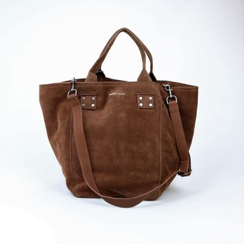 Lucky Brand Large Suede Koi Tote