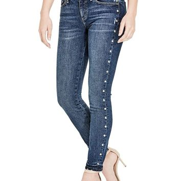 GUESS Women's 26X28 Studded Sexy Curve Stretch Jeans
