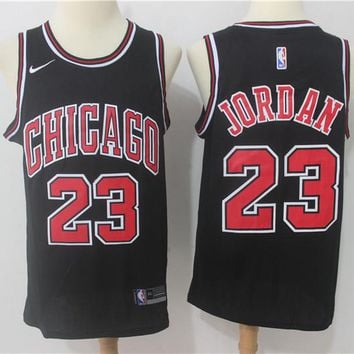 Best Deal Online NBA Basketball Swingman Jerseys Chicago Bulls # 23 Michael Jordan Black