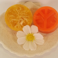 Loofah Soaps, piece sign loofah soap,Natural Exfoliating Loofah Soap, glycerin exfoliant soap, natural soap, handmade soap, loofah, soap