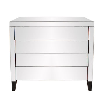Mirrored 4 Drawer Dresser