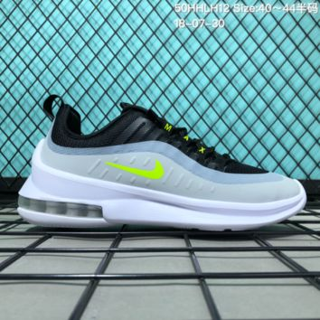 KUYOU N136 Nike 2018 Air Max AXIS 98 Cushion Breathable Causal Running Shoes Black White Green