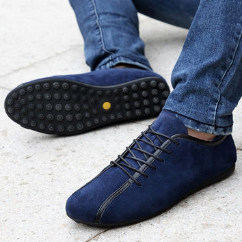 Men's Breathable Nubuck Leather Casual Shoes