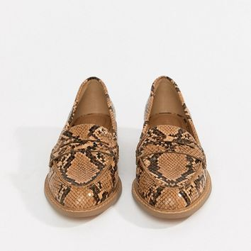 ASOS DESIGN Munch loafer flat shoes at asos.com