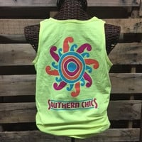 SALE Southern Chics Comfort Colors Sun Sunshine Girlie Bright T Shirt Tank Top
