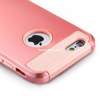 Rose Gold iPhone 6S Case Hybrid Shockproof Hard Rugged Bumper Heavy Duty 6 Cover