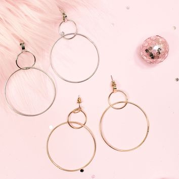 'ALL THE HOOPLA' Double Hoops