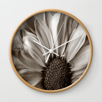 Detailed Sunflower Photography Wall Clock by kasseggs
