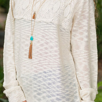 Once Upon A Time Sweater, Cream
