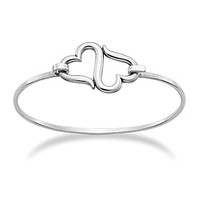 James Avery Heart to Heart Hook-On Bracelet - Sterling Silver 2.5