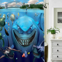 Finding Nemo special custom shower curtains that will make your bathroom adorable