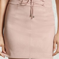 Contemporary Lace-Up Mini Skirt