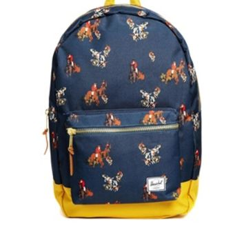 Herschel Settlement Backpack in Horse Print - Navy