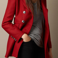 Double Wool Twill Coat