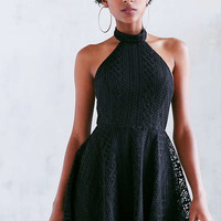 Kimchi Blue Lace Halter Mock Neck Mini Dress - Urban Outfitters