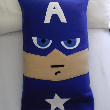 Captain America Fleece Pillow Case, Marvel Avengers