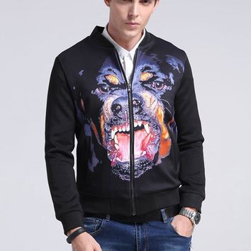 ca qiyif Men Rottweiler zip up
