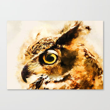 Owl art #owl #animals Canvas Print by jbjart