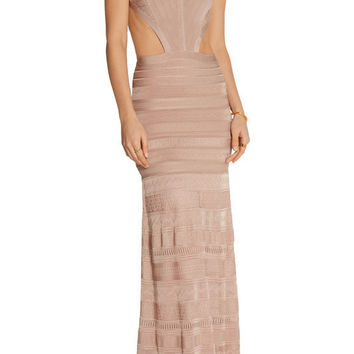 Blush Cutout Side Bandage Gown