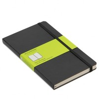Moleskine large black plain notebook