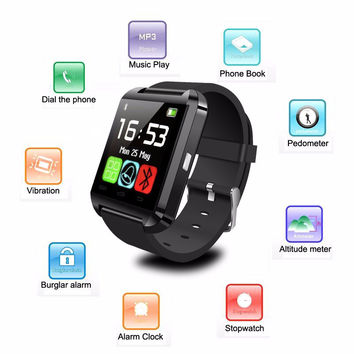 New Bluetooth Smartwatch U8 Andriod Ios Waterproof Smart Watches GPS Smart Wrist Watch Phone Mate For Android Mobile Samsung