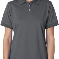 ultraclub(R) ladies' platinum performance pique polo with tempcontrol technology - charcoal (s)