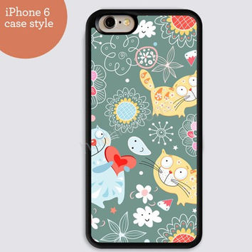 cat iphone 6 cover,art iphone 6 plus,colorful Cartoon cat IPhone 4,4s case,color IPhone 5s,vivid IPhone 5c,IPhone 5 case 66